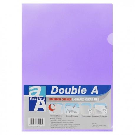 Double A A4 Plastic Folder Purple