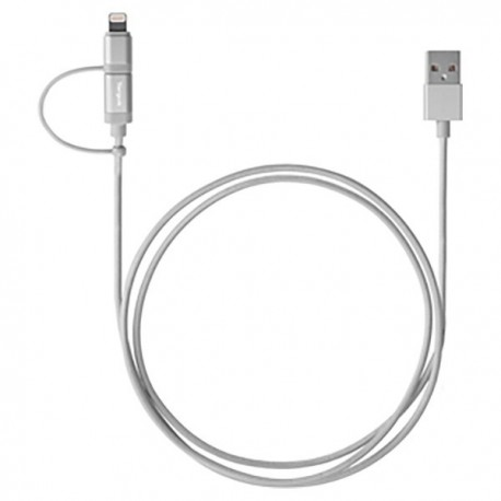 Targus ACC99505AP 2-in-1 Cable With Lightning & Micro USB Sliver