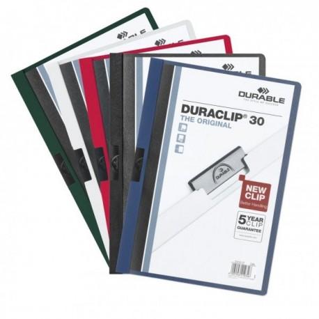 Durable 2200-10 Duraclip File A4 Dark Grey