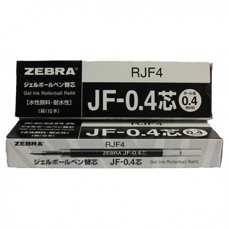 Zebra RJF4 Gel Pen Refill For SARASA Pen Black 10's
