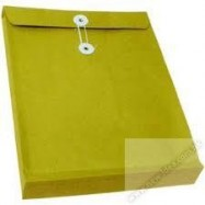 "Expandable Envelope w/String 7""x10""x2"" Brown"