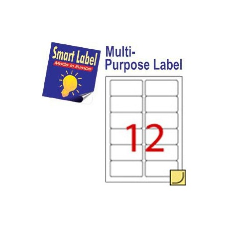 Smart Label CT-2544LC1 Multipurpose Labels A4 88.9mmx46.5mm 120's Clear
