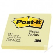 "3M Post-it 654 Note 3""x3"" Yellow"