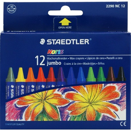 Staedtler Noris Club 229 Jumbo Crayons 12-Color Paper Packing