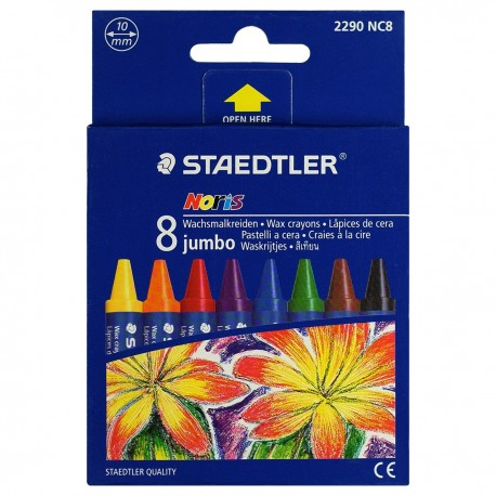 Staedtler Noris Club® 229 Jumbo Crayons 8-Color Paper Packing