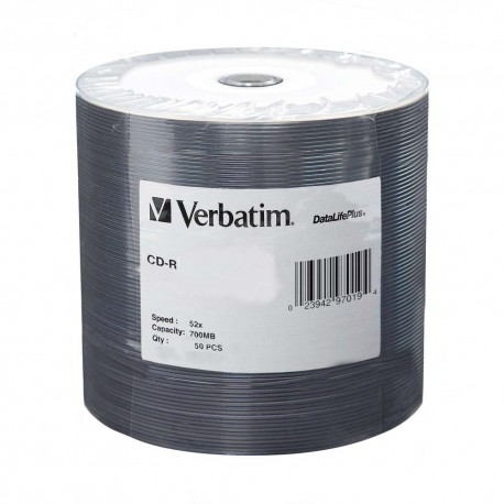 Verbatim CD-R Disc 700MB 52x 50's Shrink Plastic Bag