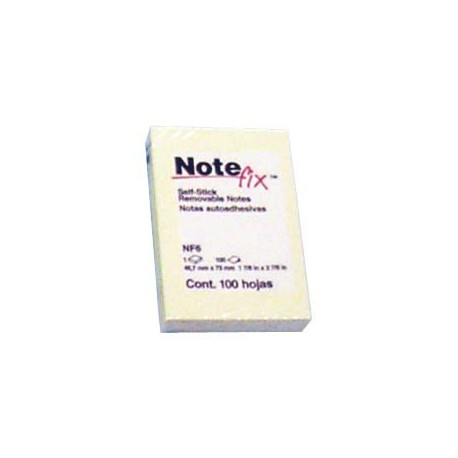 "3M Note fix NF6 Self-Stick Removable Note 2""x3"" Yellow"