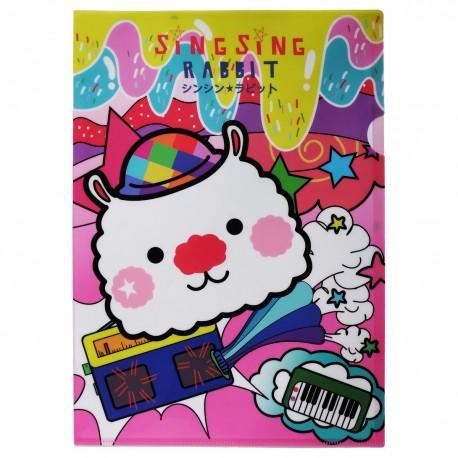 SingSing Rabbit A4 Clear Folder