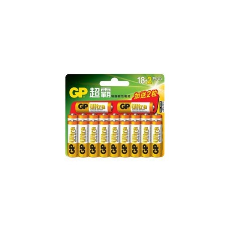 GP Ultra Alkaline Battery 2A 18+2's