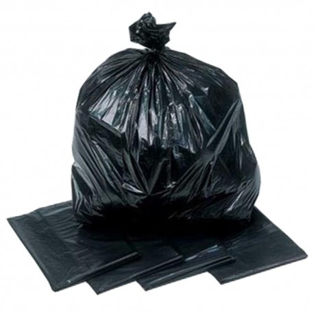 "PE Garbage Bag Thick 36""+12""x50"" 50's Black"