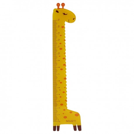 Ruler Giraffe Orange 15cm
