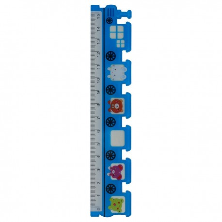 Ruler Train Blue 15cm