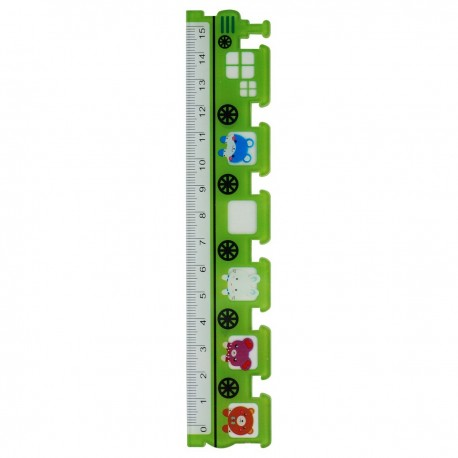 Ruler Train Green 15cm