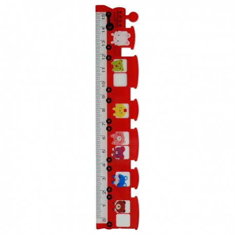 Ruler Train Red 15cm