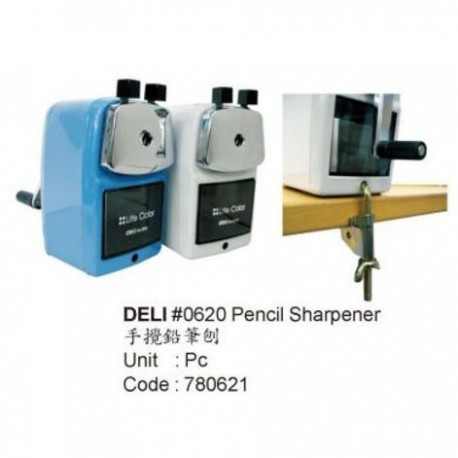 Deli 0621 Manual Pencil Sharpener Assorted Colors
