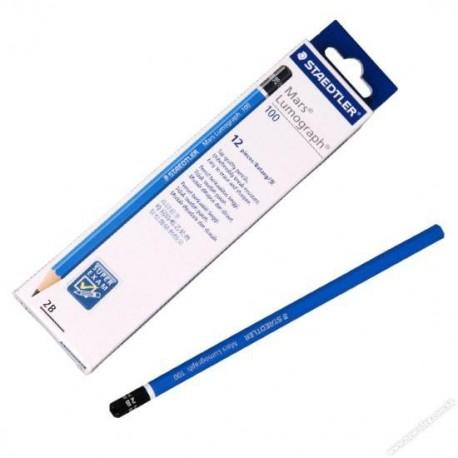 Staedtler Mars Lumograph 100 2B Pencil 12's