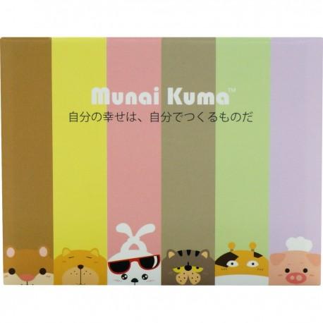 Munai Kuma and Friends Sticky Note Color Background 8cmLx6.5cmW