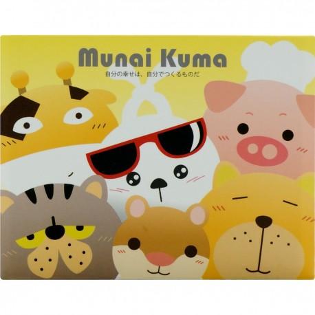 Munai Kuma and Friends Sticky Note 8cmLx6.5cmW