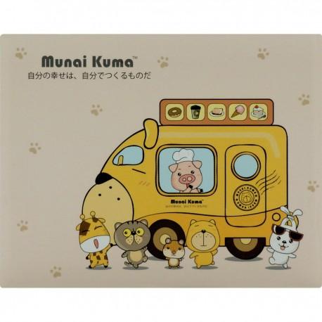 Munai Kuma and Friends Sticky Note Dining Car 8cmLx6.5cmW