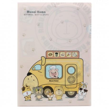 Munai Kuma and Friends A4 Clear Folder Dining Car