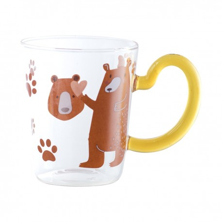 Animal Tail Cup Bear 10cmHxDia.8cm