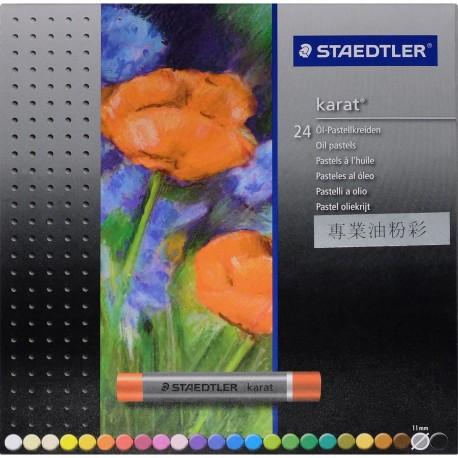 Staedtler karat® 2420 Oil Pastels 24-Color Paper Packing