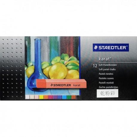 Staedtler karat® 2430 Soft Pastel Chalks 12-Color Paper Packing