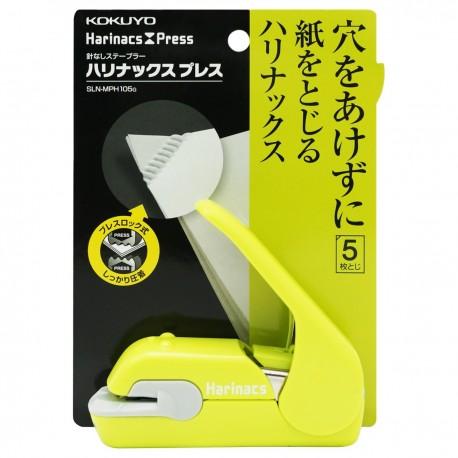 KOKUYO Harinacs Press Staple-free Stapler Green