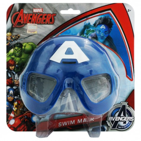 Captain Amercia Swim Mask Packaging size around 20cmWx20cmH