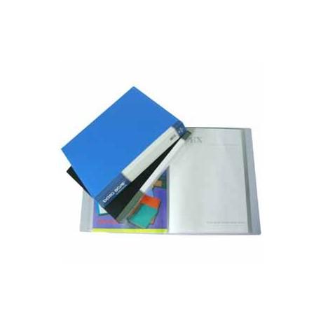 Database MT100 Clear Holder A4 100Pages Black/Grey/Blue