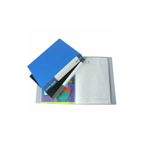Database MT80 Clear Holder A4 80Pages Black/Grey/Blue/Green/Red/Yellow