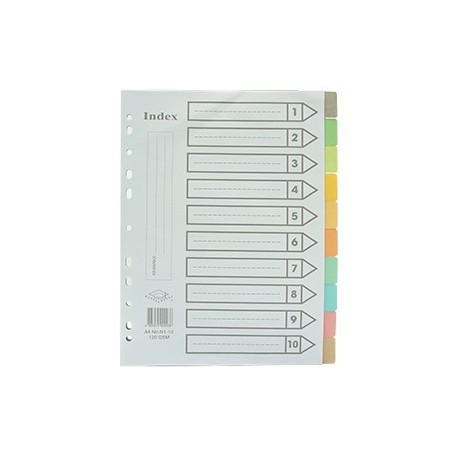 Mortar Board Paper Color Index Divider A4 10Tabs