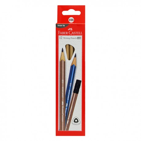 Faber-Castell Tri Graphic Eleganz Graphite HB with Rubber Tip 12pcs/set