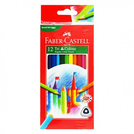 Faber-Castell Triangular Color Pencils Box 12-Color