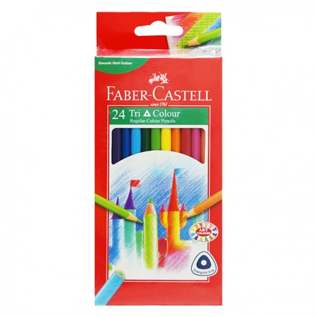 Faber-Castell Triangular Color Pencils Box 24-Color