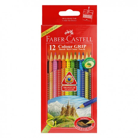 Faber-Castell Grip Color Pencils 12-Color