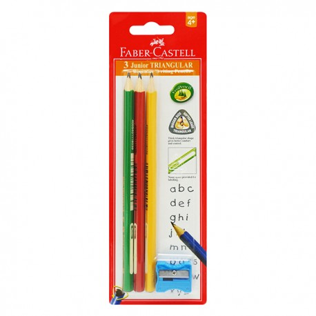 Faber-Castell Junior Grip Triangular Blacklead Pencils Blister Pack 3pcs/set