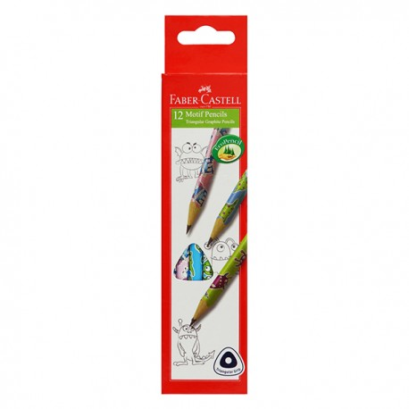 Faber-Castell Triangular Motif HB Pencil Monster 12pcs/set