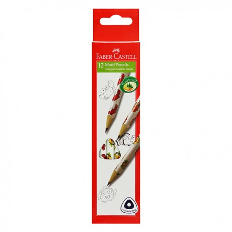 Faber-Castell Triangular Motif HB Pencil Sea Creature 12pcs/set