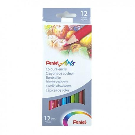 Pentel Color Pencils 12-Color