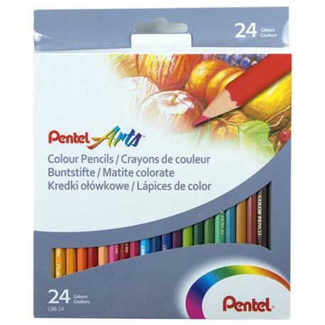 Pentel Color Pencils 24-Color