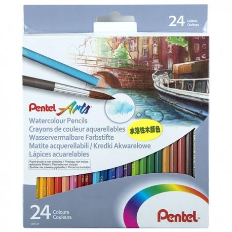 Pentel Watercolor Pencils 24-Color