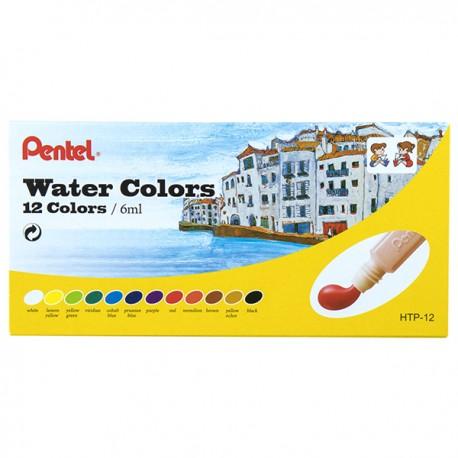 Pentel Water Paint 12-Color 6ml