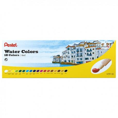 Pentel Water Paint 18-Color 6ml