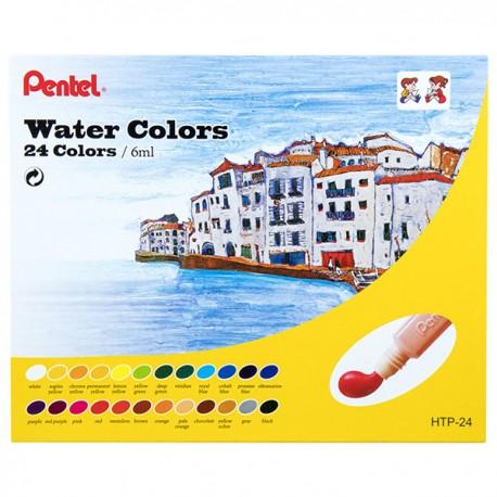 Pentel Water Paint 24-Color 6ml