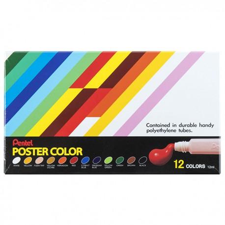 Pentel Poster Colors 12-Color