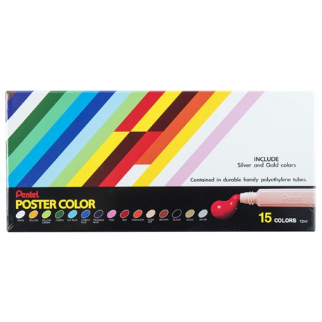 Pentel Poster Colors 15-Color
