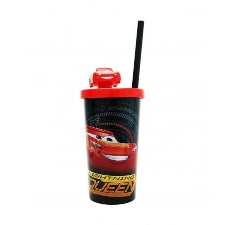 Cars McQueen Tumbler with Straw 410ml