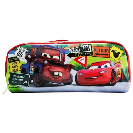 Car Double Sided Pencil Bag 20cmWx9cmHx6cmD