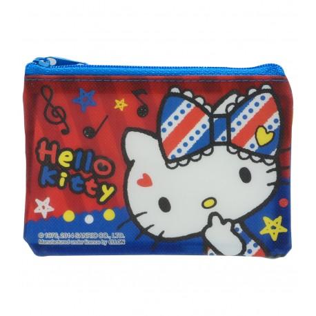 Hello Kitty PVC閃紗面網底拉鍊快勞袋 迷你 12厘米闊x8.5厘米高